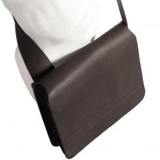 Jahn-Tasche - Umhängetasche Größe M / Messenger Bag aus Leder, Schwarz, Modell 680