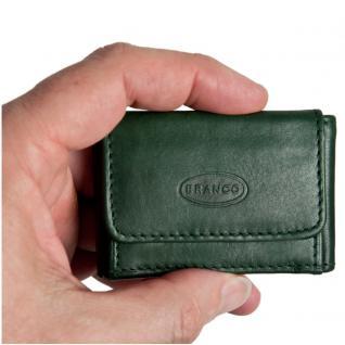 Branco - Sehr Kleine Geldbörse / Mini Portemonnaie Größe XS aus Leder, Jäger-Grün, Modell 103