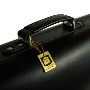 Hamosons - Klassische Aktentasche / Lehrertasche Größe L aus Leder, Schwarz, Modell 600 - Vorschau 5