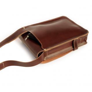 Jahn-Tasche - Herren-Handtasche Größe M / Umhängetasche aus Leder, A4 Hochformat, Braun, Modell 685 - Vorschau 3