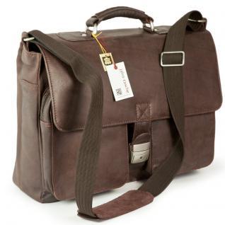 Jahn-Tasche - Elegante Aktentasche Größe L / Laptoptasche bis 15, 6 Zoll, aus Nappa-Leder, Braun, Modell 750 - Vorschau 2