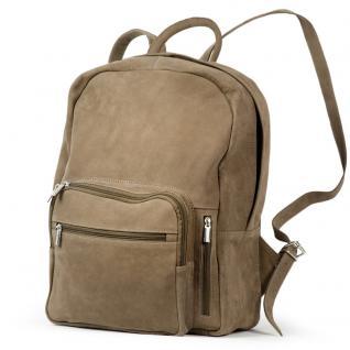Hamosons - Großer Lederrucksack Größe L / Laptop-Rucksack bis 15, 6 Zoll, aus Büffel-Leder, Beige-Braun, Modell 513