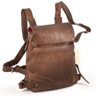 Harolds - Kleiner Lederrucksack Größe S / Rucksack-Handtasche aus Leder, Braun, Modell 223702