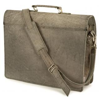 Hamosons - Klassische Aktentasche / Lehrertasche Größe L aus Büffel-Leder, Dunkel-Grau, Modell 600 - Vorschau 5