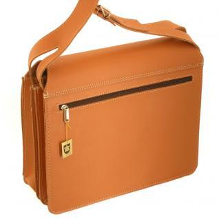 Jahn-Tasche - Große Aktentasche / Lehrertasche Größe XL aus Leder, Cognac-Braun, Modell 675 - Vorschau 5