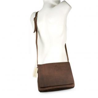 Harolds - Kleine Damen-Handtasche Größe S / Umhängetasche aus Leder, Natur-Braun, Modell 310303 - Vorschau 1