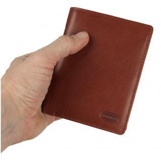 Branco - Große Geldbörse / Portemonnaie Größe L für Herren aus Leder, Hochformat, Braun, Modell 12005
