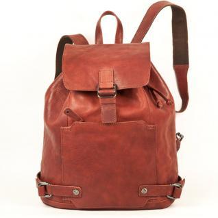 Harolds - Eleganter Lederrucksack / Cityrucksack Größe M aus Leder, Rost-Rot, Modell 223902
