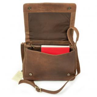 Harolds - Kleine Damen-Handtasche Größe S / Umhängetasche aus Leder, Natur-Braun, Modell 310303 - Vorschau 5