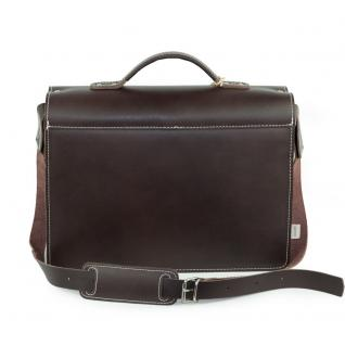 Hamosons - Mittel-Große Aktentasche / Lehrertasche Größe M aus Leder, Braun, Modell 605 - Vorschau 4