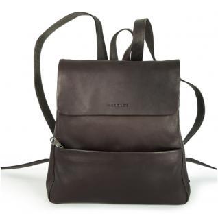 Harolds - Eleganter Lederrucksack Größe M / Rucksack-Handtasche aus Leder, Braun, Modell 445125
