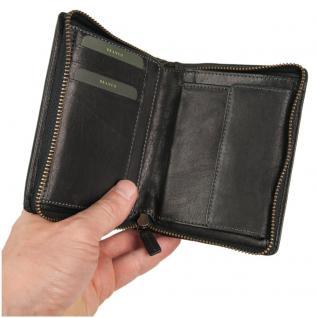 Branco - Große Geldbörse / Portemonnaie Größe L für Herren aus Leder, Hochformat, Schwarz, Modell 35009 - Vorschau 2