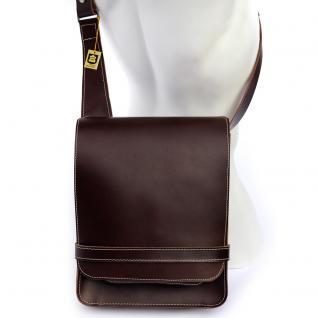 Jahn-Tasche - Herren-Handtasche Größe M / Umhängetasche aus Leder, A4 Hochformat, Braun, Modell 685 - Vorschau 2