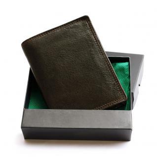Hamosons - Große Geldbörse / Portemonnaie Größe L für Herren aus Leder, Hochformat, Braun, Modell 106