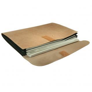 Jahn-Tasche - A4 Dokumentenmappe / Dokumententasche, aus Büffel-Leder, Creme-Beige, Modell 1040