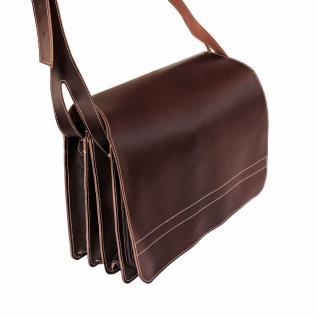 Jahn-Tasche - Sehr Große Aktentasche / Lehrertasche Größe XXL aus Leder, Braun, Modell 677