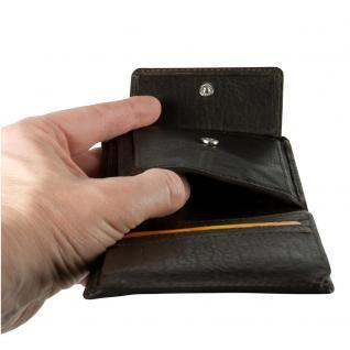 Hamosons - Kleine Geldbörse / Portemonnaie Größe S für Herren aus Leder, Hochformat, Braun, Modell 105 - Vorschau 5