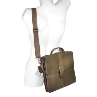 Harolds - Schmale Aktentasche / Aktenmappe Größe S aus Leder, Taupe-Grau, Modell 293835 - Vorschau 2