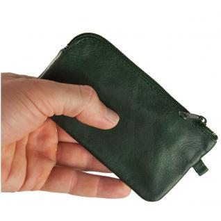 Branco - Großes Schlüsseletui / Schlüsselmäppchen aus Leder, Jäger-Grün, Modell 018 - Vorschau 2