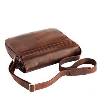 Branco - Elegante Laptoptasche Größe L / Notebooktasche bis 15, 6 Zoll, aus Leder, Braun, Modell br170 - Vorschau 2