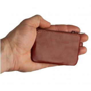 Branco - Kleines Schlüsseletui / Schlüsselmäppchen aus Leder, Braun, Modell 019 - Vorschau 5