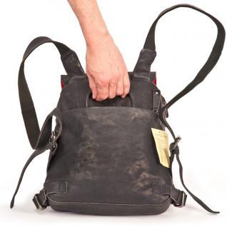 Harolds - Kleiner Lederrucksack Größe S / Rucksack-Handtasche aus Leder, Blau-Schwarz, Modell 223702 - Vorschau 5