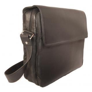 Branco - Elegante Laptoptasche Größe L / Notebooktasche bis 15, 6 Zoll, aus Leder, Schwarz, Modell br170