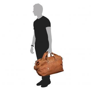 Jahn-Tasche - Große Reisetasche / Weekender Größe L aus Nappa-Leder, Cognac-Braun, Modell 697 - Vorschau 2