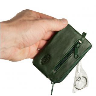 Branco - Kleines Schlüsseletui / Schlüsselmäppchen aus Leder, Jäger-Grün, Modell 019 - Vorschau 3