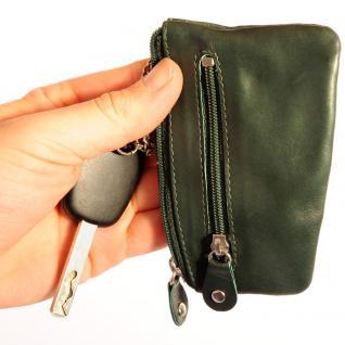 Branco - Schlüsseletui / Schlüsselmäppchen aus Leder, Jäger-Grün, Modell 029