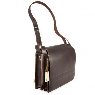 Jahn-Tasche - Große Aktentasche / Lehrertasche Größe XL aus Leder, Braun, Modell 675 - Vorschau 2