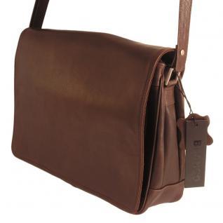 Branco - Damen-Handtasche Größe M / Umhängetasche aus Echt-Leder, Braun, Modell 5584 - Vorschau 1