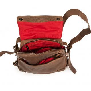 Harolds - Kleiner Lederrucksack Größe S / Rucksack-Handtasche aus Leder, Braun, Modell 223702 - Vorschau 3