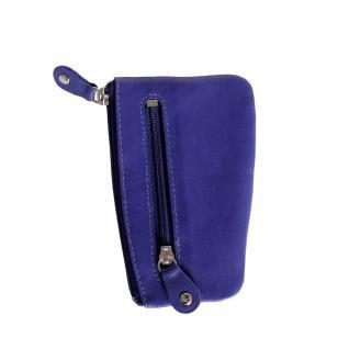 Branco - Schlüsseletui / Schlüsselmäppchen aus Leder, Azur-Blau, Modell 029