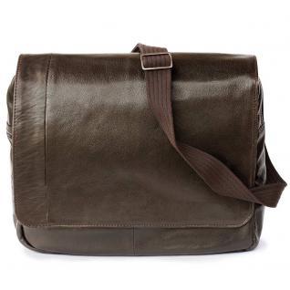 Jahn-Tasche - Elegante Laptoptasche Größe M / Notebooktasche bis 14 Zoll, aus Nappa-Leder, Braun, Modell 438 - Vorschau 2