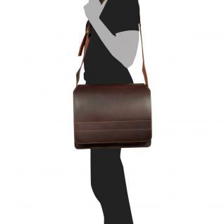 Jahn-Tasche - Große Aktentasche / Lehrertasche Größe XL aus Leder, Braun, Modell 675 - Vorschau 4