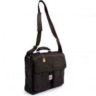 Jahn-Tasche - Elegante Aktentasche Größe L / Laptoptasche bis 15, 6 Zoll, aus Nappa-Leder, Schwarz, Modell 750 - Vorschau 3