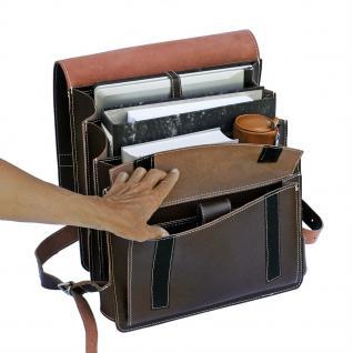 Jahn-Tasche - Sehr Großer Lederrucksack / Lehrer-Rucksack Größe XL aus Leder, Braun, Modell 670 - Vorschau 4