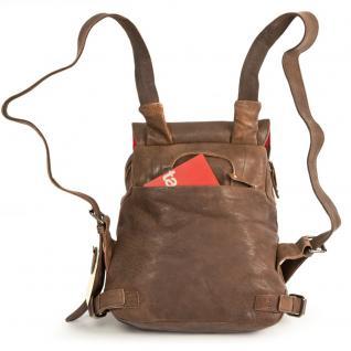 Harolds - Kleiner Lederrucksack Größe S / Rucksack-Handtasche aus Leder, Braun, Modell 223702 - Vorschau 4