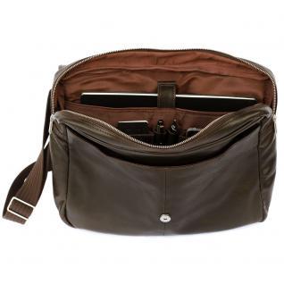Jahn-Tasche - Elegante Laptoptasche Größe M / Notebooktasche bis 14 Zoll, aus Nappa-Leder, Braun, Modell 438 - Vorschau 4