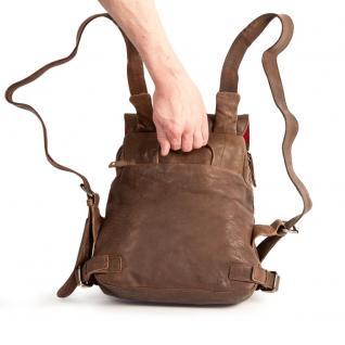 Harolds - Kleiner Lederrucksack Größe S / Rucksack-Handtasche aus Leder, Braun, Modell 223702 - Vorschau 5