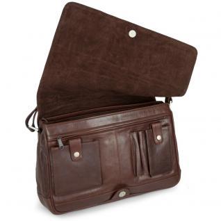 Branco - Damen-Handtasche Größe M / Umhängetasche aus Echt-Leder, Braun, Modell 5584 - Vorschau 3