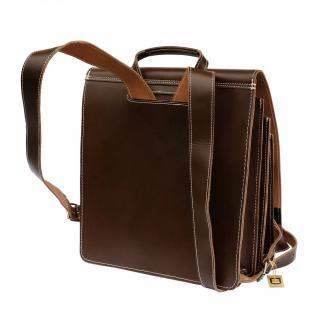 Jahn-Tasche - Sehr Großer Lederrucksack / Lehrer-Rucksack Größe XL aus Leder, Braun, Modell 670 - Vorschau 5