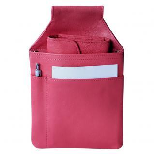 Hamosons - Profi Kellnerholster / Kellnerhalfter aus Nappa-Leder, Rosa Pink, Modell 1009