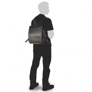 Jahn-Tasche - Mittel-Großer Lederrucksack / Lehrer-Rucksack Größe M aus Leder, Schwarz, Modell 668 - Vorschau 5