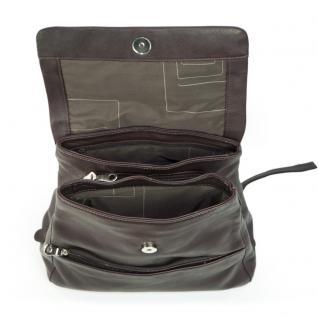 Harolds - Eleganter Lederrucksack Größe M / Rucksack-Handtasche aus Leder, Braun, Modell 445125 - Vorschau 3