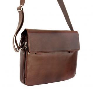 Branco - Elegante Laptoptasche Größe L / Notebooktasche bis 15, 6 Zoll, aus Leder, Braun, Modell br170