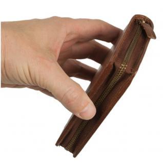 Branco - Große Geldbörse / Portemonnaie Größe L für Herren aus Leder, Hochformat, Braun, Modell 35009 - Vorschau 5