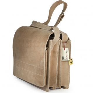 Jahn-Tasche - Große Aktentasche / Lehrertasche Größe XL aus Büffel-Leder, Creme-Beige, Modell 676 - Vorschau 3