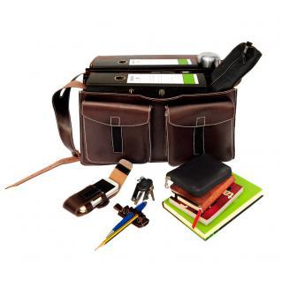 Jahn-Tasche - Sehr Große Aktentasche / Lehrertasche Größe XXL aus Leder, Braun, Modell 677 - Vorschau 5